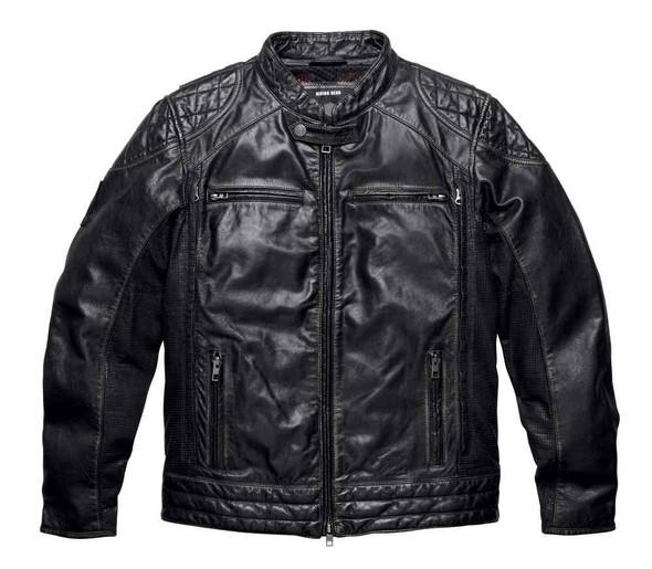 Harley-Davidson Mens Black Label Core Perforated Panel Leather Jacket 98113-16VM - Wisconsin Harley-Davidson
