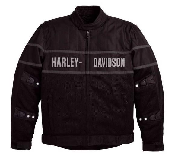 Harley-Davidson Men's Classic Cruiser Mesh Riding Jacket 98248-09VM - Wisconsin Harley-Davidson