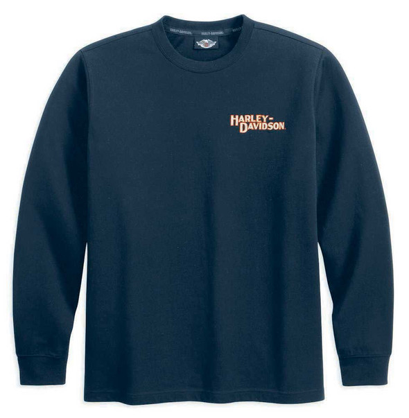 Harley-Davidson Men's Flying Diamond Long Sleeve Shirt Black 99034-11VM - Wisconsin Harley-Davidson