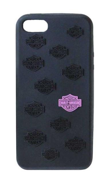 Harley-Davidson iPhone 5/5S Shell, Pink Bar & Shield Silicon Skin, Black 07487 - Wisconsin Harley-Davidson
