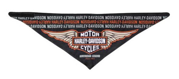 Harley-Davidson Men's Bandana, Revamped B&S 3-in-1 Convertible Black BAC96630 - Wisconsin Harley-Davidson