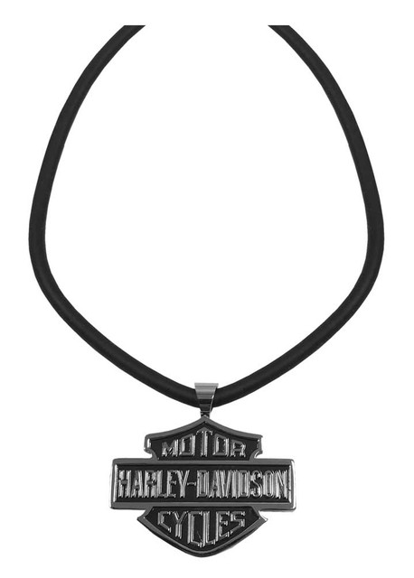 Harley-Davidson Men's Necklace, Bar & Shield Cable Logo, 22 Inch HSN0027 - Wisconsin Harley-Davidson
