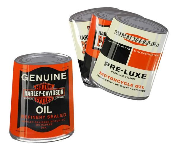 Harley-Davidson Genuine Oil Can Snack Plate Set, 4 Iconic Designs HDL-18556 - Wisconsin Harley-Davidson