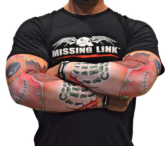 Missing Link SPF 50 Stitched in Time Tattoo ArmPro Compression Sleeves - APST - Wisconsin Harley-Davidson