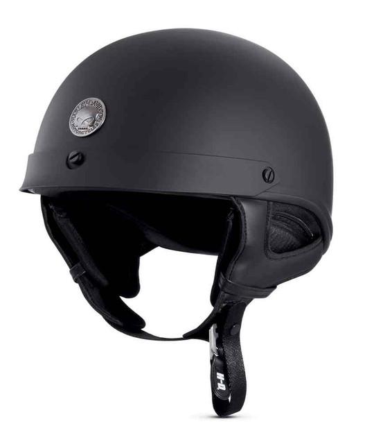 Harley-Davidson Men's Skull Ultra-Light J02 Half Helmet, Matte Black 98212-16VM - Wisconsin Harley-Davidson