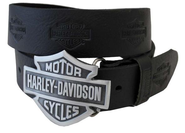 Harley-Davidson Men's Bar & Shield Buckle and Belt Set OH-7 - Wisconsin Harley-Davidson