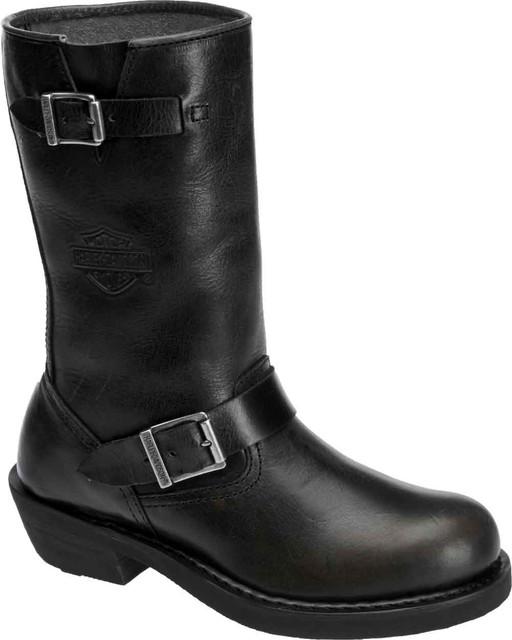 Harley-Davidson Women's Dartford Black or Brown Leather Boots. D83803 D83804 - Wisconsin Harley-Davidson