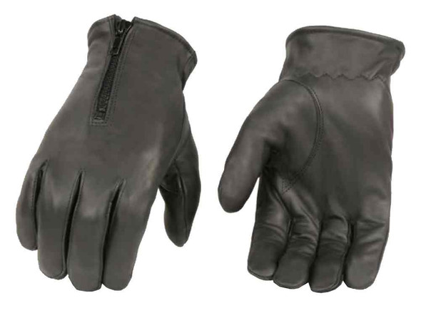 Milwaukee Leather Men's Thermal Premium Leather Driving Gloves, Black SH226TH - Wisconsin Harley-Davidson