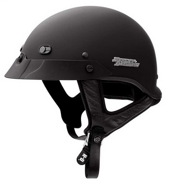 Harley-Davidson Men's Hybrid Ultra-Light Spoiler Half Helmet MATTE 98339-09VM - Wisconsin Harley-Davidson