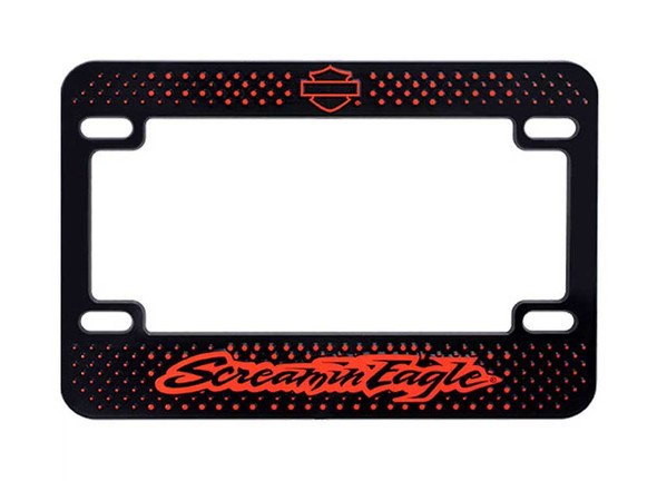 Harley-Davidson Screamin' Eagle Diamond Plate License Plate Frame HARLNV008800 - Wisconsin Harley-Davidson