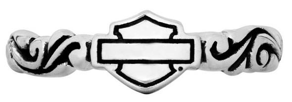 Harley-Davidson Women's Stackable Ring, Filigree Bar & Shield, Silver HDR0315 - Wisconsin Harley-Davidson