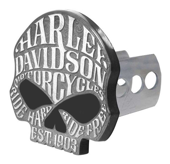 Harley-Davidson Willie G Sugar Skull Hitch Cover, Universal 2 & 1.25 Inch 2292 - Wisconsin Harley-Davidson
