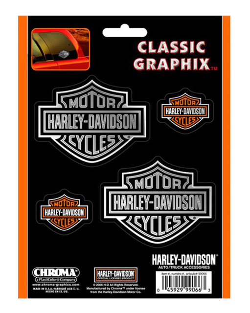 Harley-Davidson Bar & Shield 4-Piece Decal Set Stickers CG99066 - Wisconsin Harley-Davidson