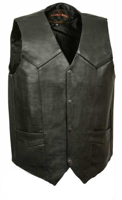 Leather King Men's Classic Snap Front Vest w/ Gun Pockets SH1390 - Wisconsin Harley-Davidson