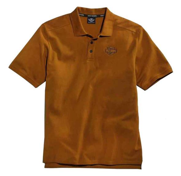 Harley-Davidson Men's Classic Pique Polo Shirt, Burnt Orange. 96002-16VM - Wisconsin Harley-Davidson
