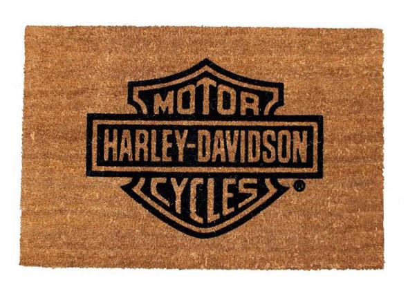 Harley-Davidson Bar & Shield Logo Door Mat, Coco Fiber 29x19 Rug. 99202-14V - Wisconsin Harley-Davidson