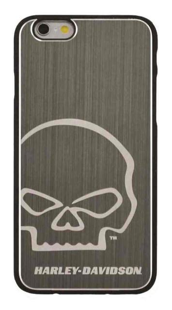 Harley-Davidson Men's Aluminum Willie G Skull iPhone 6 Phone Shell, Silver 7792 - Wisconsin Harley-Davidson