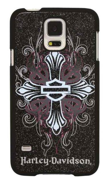 Harley-Davidson Women's Samsung Galaxy S5 Glitter B&S Cross Phone Shell 7737 - Wisconsin Harley-Davidson