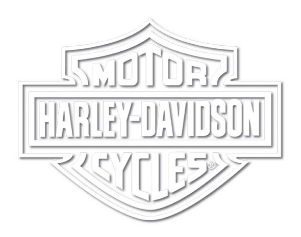 Harley-Davidson White Bar & Shield Die Cutz Window Decal CG4311 - Wisconsin Harley-Davidson