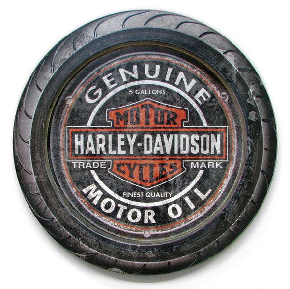 Harley-Davidson 23 in Round 2 Piece Genuine B&S Wooden Sign CU118A-HDFI-2/PC-C - Wisconsin Harley-Davidson