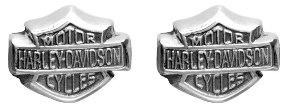 Harley-Davidson Women's Bar & Shield Sterling Silver Post Earrings HDE0085 - Wisconsin Harley-Davidson