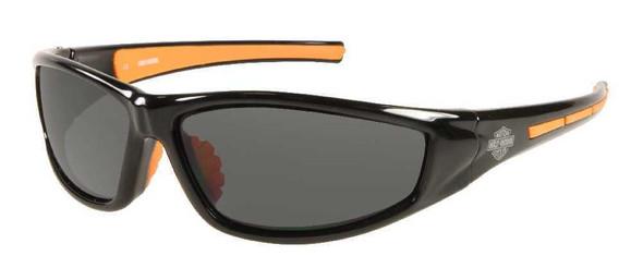 Harley-Davidson Men's Lifestyle Black&Orange w/Grey Lens Sunglasses HDS607BLK-3 - Wisconsin Harley-Davidson