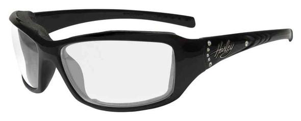Harley-Davidson Women's Tori Gasket Sunglasses, Black/Green Stones Frame HATOR03 - Wisconsin Harley-Davidson