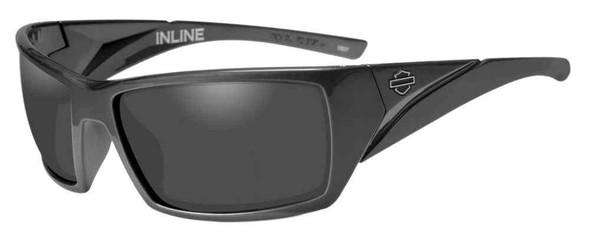 Harley-Davidson Men's Inline Bar & Shield Sunglasses, Gray Lens & Frames HAINL01 - Wisconsin Harley-Davidson