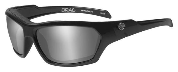 Harley-Davidson Men's Drag Gasket Sunglasses, Gray Lens / Black Frames HADRA02 - Wisconsin Harley-Davidson