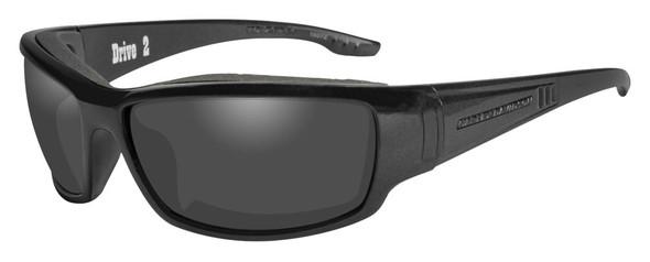 Harley-Davidson Men's Drive 2 Gasket Sunglasses, Gray Lens / Black Frame HADRI02 - Wisconsin Harley-Davidson