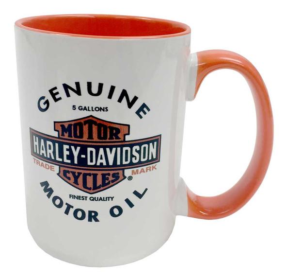 Harley-Davidson Genuine Motor Oil Bar & Shield Coffee Mug, 15 oz. HD-GMO-1772BO - Wisconsin Harley-Davidson