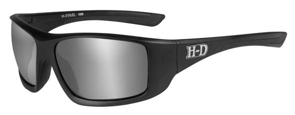 Harley-Davidson Men's Duel H-D Sunglasses, Gray Lens / Matte Black Frame HADUE02 - Wisconsin Harley-Davidson