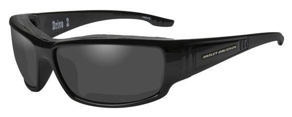 Harley-Davidson Men's Drive 2 Gasket Sunglasses, Gray Lens / Black Frame HADRI01 - Wisconsin Harley-Davidson