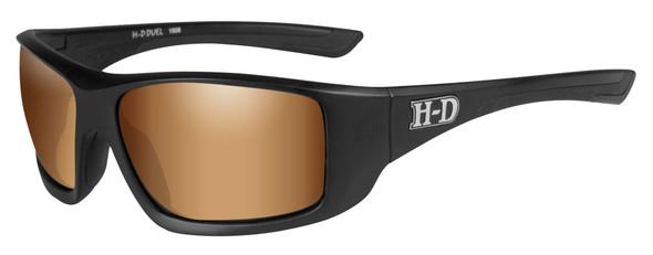 Harley-Davidson Men's Duel H-D Sunglasses, Bronze Lens/Matte Black Frame HADUE06 - Wisconsin Harley-Davidson
