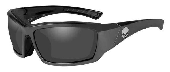 Harley-Davidson Men's Tat Skull Gasket Sunglasses, Gray Lenses & Frames HATAT02 - Wisconsin Harley-Davidson