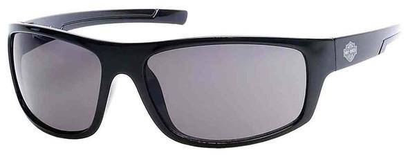 Harley-Davidson Men's Kickstart B&S Sunglasses, Black Frame & Smoke Acrylic Lens - Wisconsin Harley-Davidson