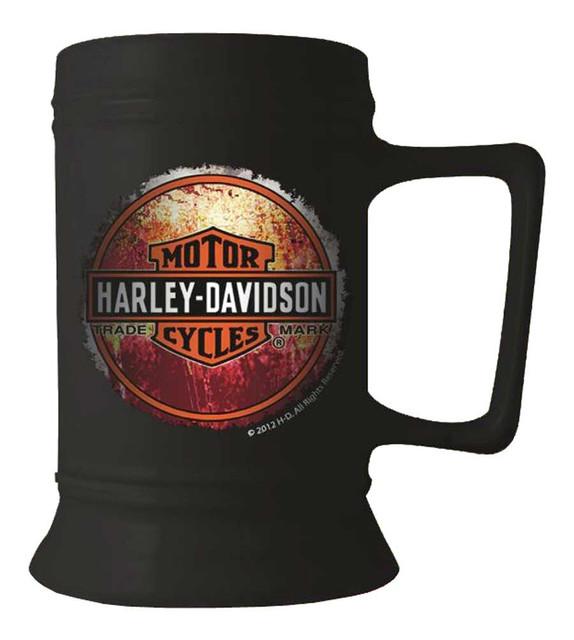 Harley-Davidson Trademark Bar & Shield Coffee Mug, 16 oz. Black HD-TML-1404 - Wisconsin Harley-Davidson