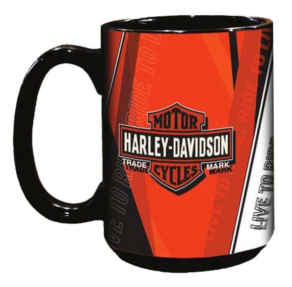 Harley-Davidson Live To Ride Bar & Shield Coffee Mug, 15 oz. Black HD-LTR-2004 - Wisconsin Harley-Davidson
