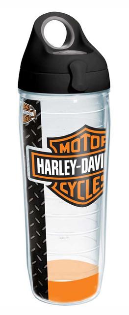 Harley-Davidson Bar & Shield Water Bottle w/ Black Lid, 24 oz. Bottle 1215926 - Wisconsin Harley-Davidson