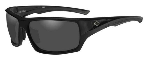Harley-Davidson Men's Ink Bar & Shield Sunglasses, Gray Lens/Black Frame HAINK01 - Wisconsin Harley-Davidson