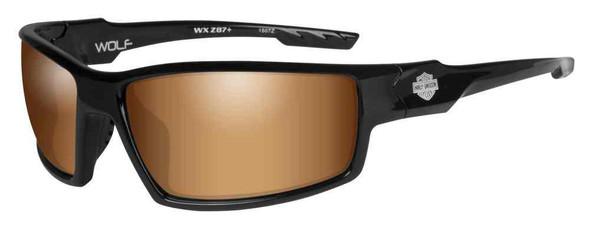Harley-Davidson Men's Wolf Bar & Shield Sunglasses, Bronze Flash Lenses HAWOL06 - Wisconsin Harley-Davidson