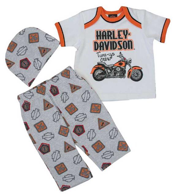 Harley-Davidson Baby Boys' Motorcycle 3 Piece Gift Set w/ Gift Bag 2551629 - Wisconsin Harley-Davidson