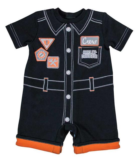 Harley-Davidson Baby Boys' Interlock Infant Printed Mechanic Romper Suit 3061653 - Wisconsin Harley-Davidson