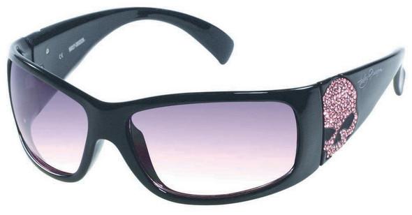 Harley-Davidson Womens Sun Pink Label Pink Skull/Lens Sunglasses HDSPK03BLKPK-50 - Wisconsin Harley-Davidson
