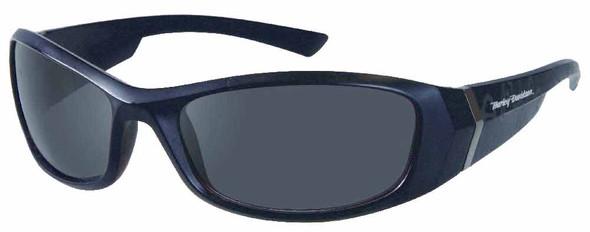 Harley-Davidson Mens Kickstart Sunglasses Shiny Black Dark Grey Lens HDV004BLK-3 - Wisconsin Harley-Davidson