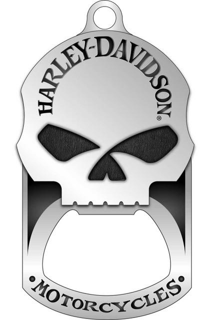 Harley-Davidson Willie G. Skull Bottle Opener Dog Tag Necklace/KeyChain 8002749 - Wisconsin Harley-Davidson