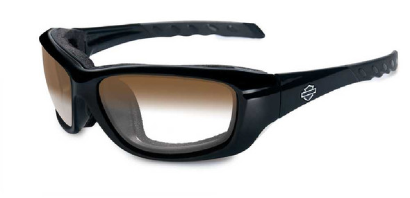 Harley-Davidson Gravity LA Brown Lens w/ Gloss Black Frame Sunglasses HDGRA08 - Wisconsin Harley-Davidson