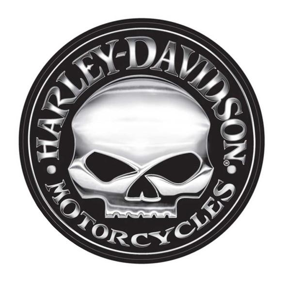Harley-Davidson Decal, Silver Willie G Skull Logo, X-Large 29 Inch CG4331 - Wisconsin Harley-Davidson