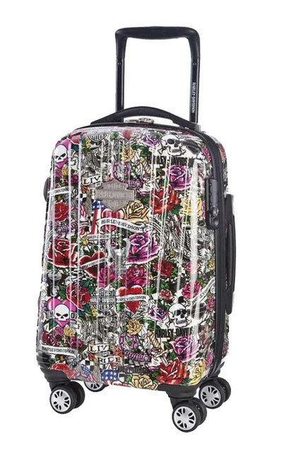 Harley-Davidson 18 Inch Carry-On, Light Weight Wheeled, Tattoo Design 99918-TAT - Wisconsin Harley-Davidson