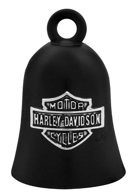 Harley-Davidson Bar & Shield Logo Motorcycle Ride Bell, Black HRB059 - Wisconsin Harley-Davidson
